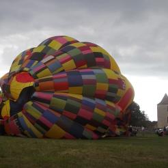 Envole de montgolfière