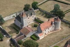 Vue aérienne château